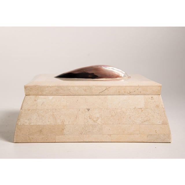 1980s 1980s Vintage Maitland-Smith Handmade Tessellated & Shell Box For Sale - Image 5 of 7