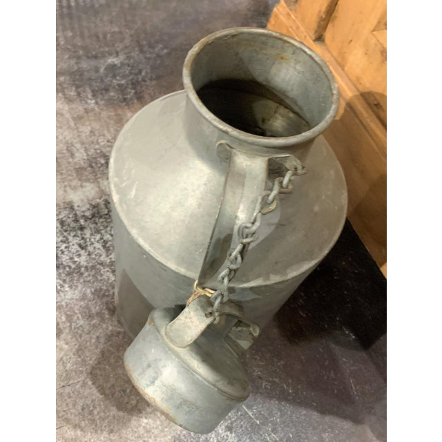 Gray 1930s Antique Joe Bauhofer & Sons Stainless Steel Milk Jug For Sale - Image 8 of 13