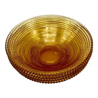 Amber Depression Glass Bowls - Set of 4 For Sale
