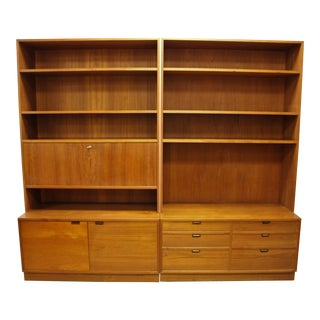 1960s Danish Modern Wall Unit/Bookcase For Sale