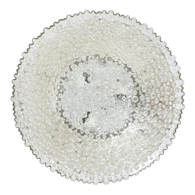 Large Staff Bubble Glass Flush Mount, Germany 1960 For Sale