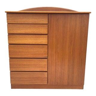 Vintage Modern Teak Armoire Dresser From D-Scan For Sale