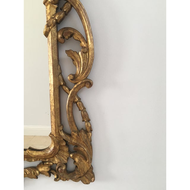 Italian 1940s Vintage Italian Gold Mirror For Sale - Image 3 of 6