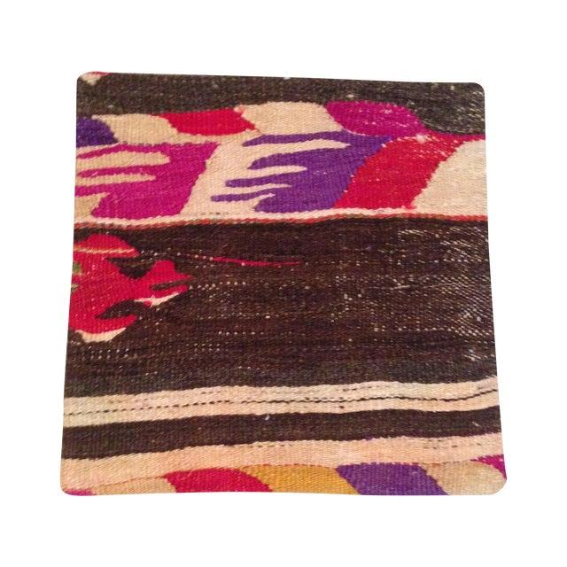 Vintage Striped Kilim Pillow Case - Image 1 of 5