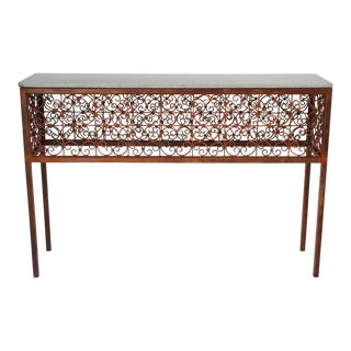 Iron Rust Finished Console Table For Sale