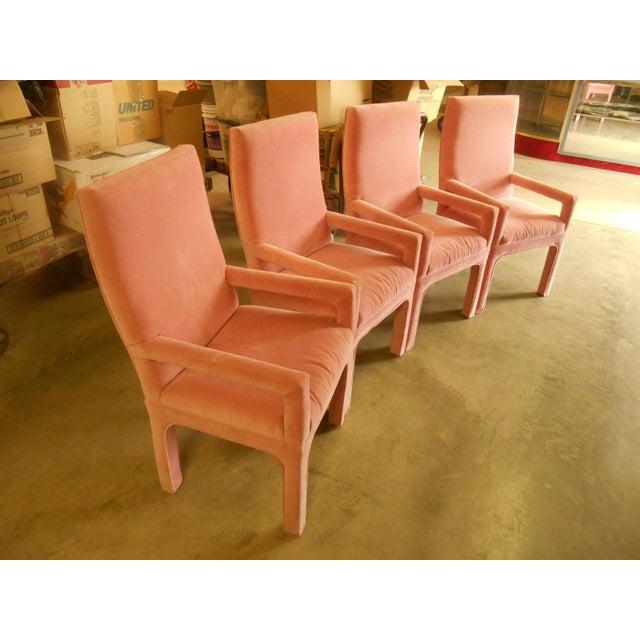 Parsons Dining Chairs in Desert Rose Velvet - Set of 4 - Image 3 of 4