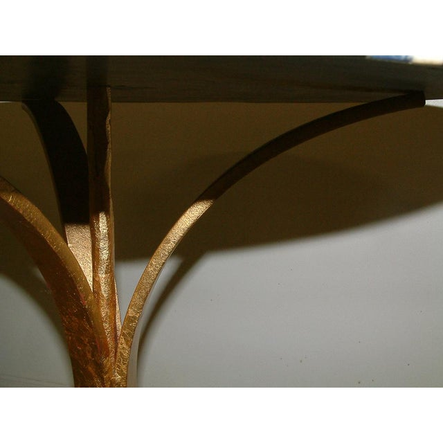 Metal 1998 Contemporary Forged and Gilt Gold Steel and Black Marble Occasional Table by Maurice Beane Studios For Sale - Image 7 of 8