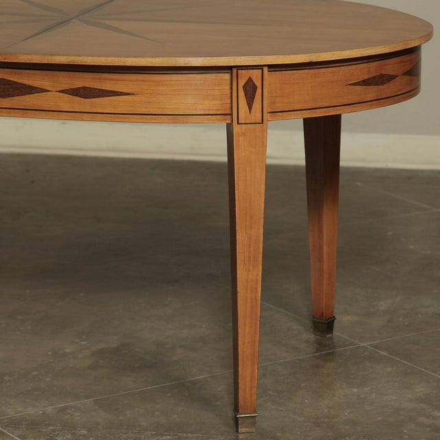 Mid-Century French Directoire Style Inlaid Table For Sale In Dallas - Image 6 of 13