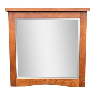 Mid-Century Wood Mirror For Sale