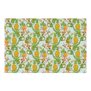 Pineapple Morning Mist Linen Cotton Fabric, 3 Yards For Sale