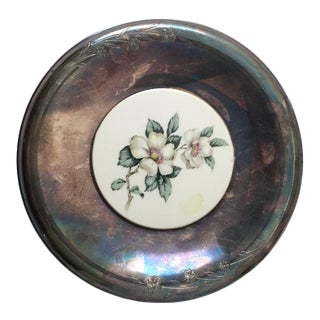 """Vintage Rogers Brothers 1847 Hostess Set Silver Plate """"springtime"""" With Flower Tile For Sale"""