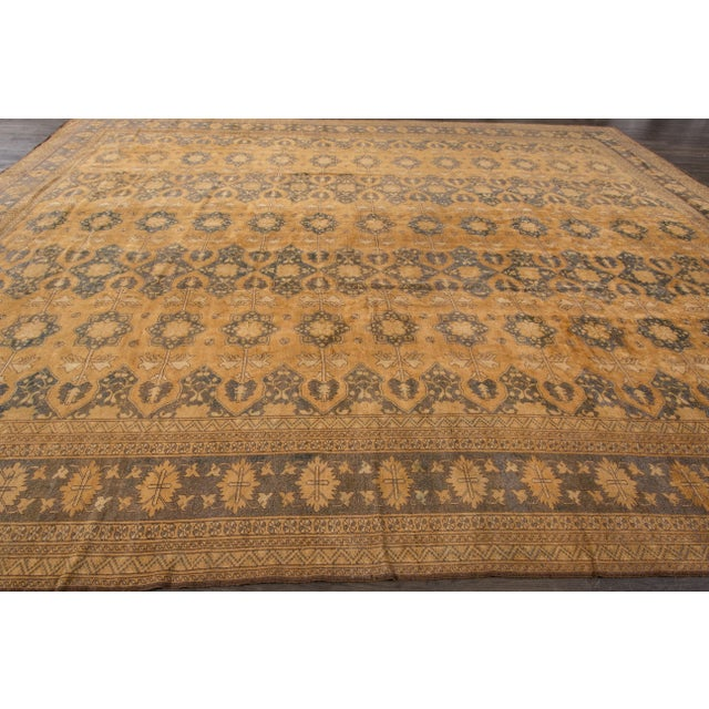 Vintage hand-knotted Afghan Rug. Excellent condition.