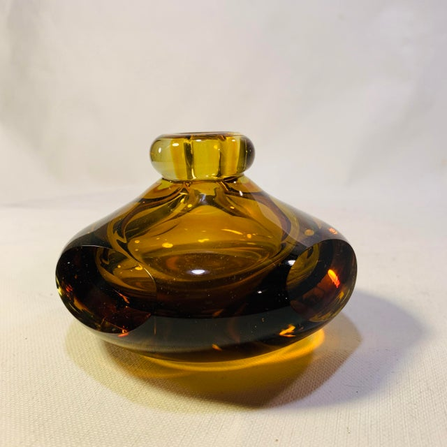 Mid Century Modern Handblown Murano Paperweight Vase For Sale - Image 6 of 6