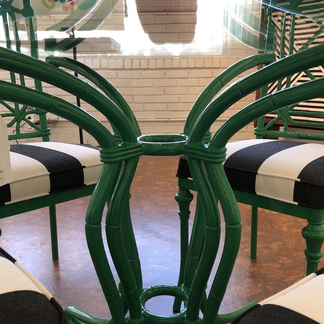 Vintage Bamboo Metal Kitchen Dining Set For Sale In Dallas - Image 6 of 10