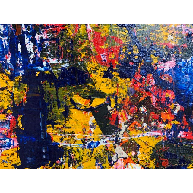 """Acrylic Painting by Artist Troy Smith - 60"""" X 60"""" Contemporary Art - Abstraction For Sale - Image 9 of 13"""