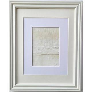 """Calmed"" Contemporary Minimalist Coastal Landscape Acrylic Painting, Framed For Sale"