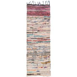 Contemporary Moroccan Striped Rug - 2′3″ × 6′7″ For Sale