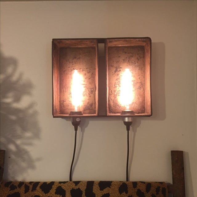 Industrial Bread Pan Sconce - Image 2 of 5