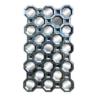 Mid Century Style Geometric Wall Mirror For Sale