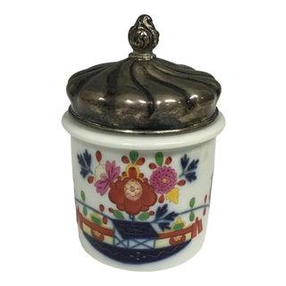 Vintage Meissen Porcelain Covered Jar For Sale
