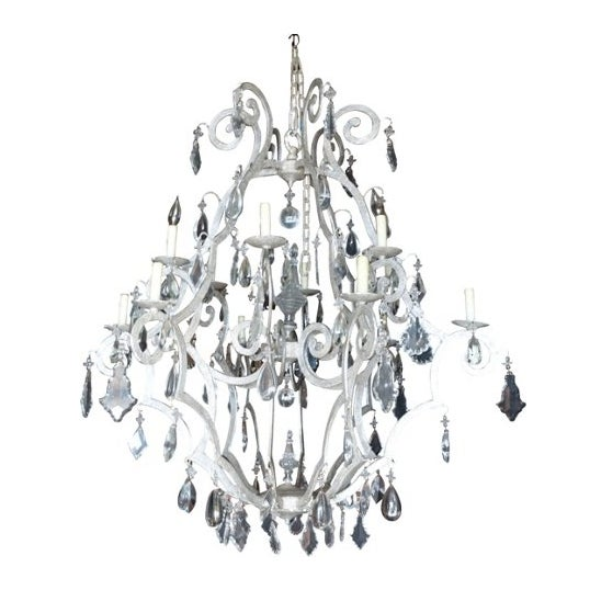 Silver 12-Light Crystal Chandelier - Image 2 of 6