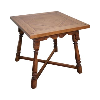 Romweber Viking Oak Square Game Table For Sale