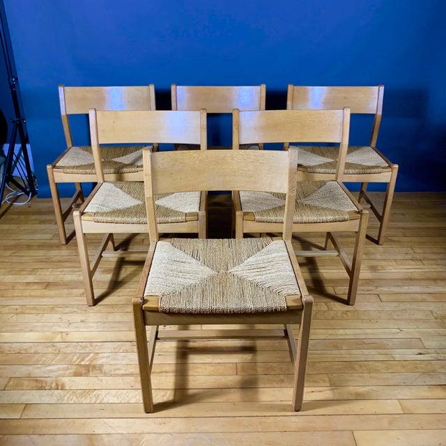 Børge Mogensen Bm2 Oak & Papercord Dining Chairs, Denmark 1960s For Sale - Image 13 of 13