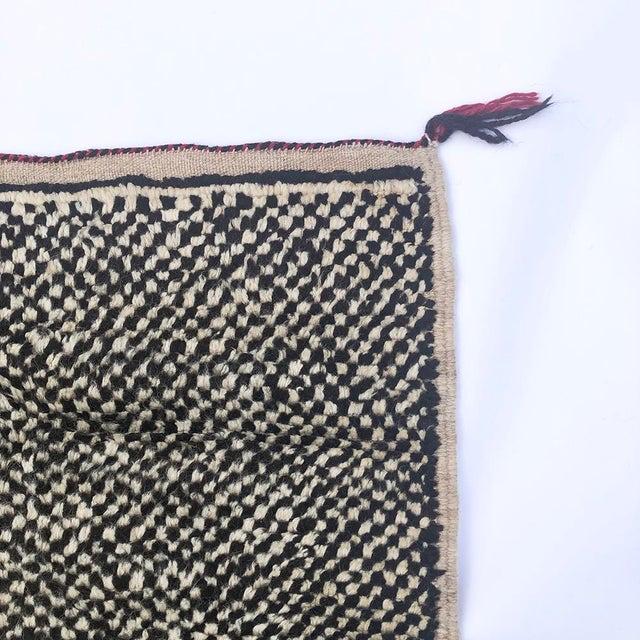 "Tribal Vintage Tribal Berber Wool Checkerboard Rug-5'2"" X 8'8"" For Sale - Image 3 of 10"