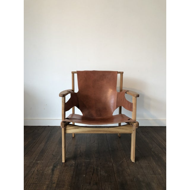 Carl-Axel Acking Triena chair designed in 1957. New leather was put on the chair 7 years ago.