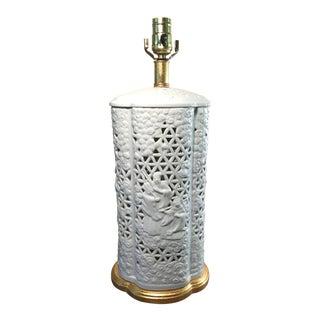Chinoiserie Mario Buatta for Frederick Cooper Blanc De Chine Table Lamp