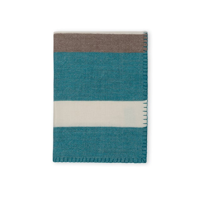 Mid-Century Modern Block Stripe Throw For Sale - Image 3 of 3