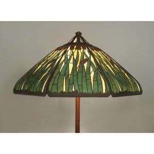 American Mission bronze adjustable floor lamp For Sale - Image 4 of 11