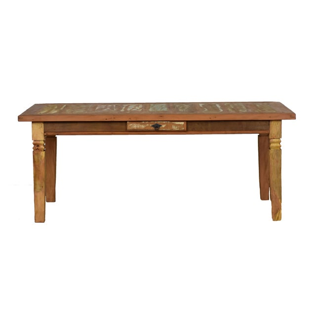 Complete your dining room with this one-of-a-kind antique look table. Rustic, this reclaimed wood table is handmade with...