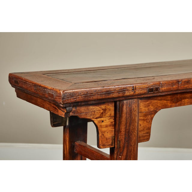 Wood 19th C. Chinese Ming Style Altar Table For Sale - Image 7 of 10