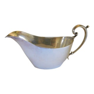 English Edwardian William Suckling Ltd Kingsway Silverplate 1/4 Pint Sauce/Gravy Boat For Sale