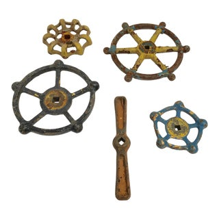 Industrial Salvaged Power Plant Valves- Set of 5
