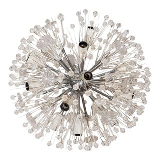 Emil Stejnar Chrome and Enamel Sputnik Chandelier For Sale
