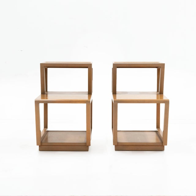 1940s 1940s Drexel Furniture by Edward Wormley Precedent Step Tables - a Pair For Sale - Image 5 of 5