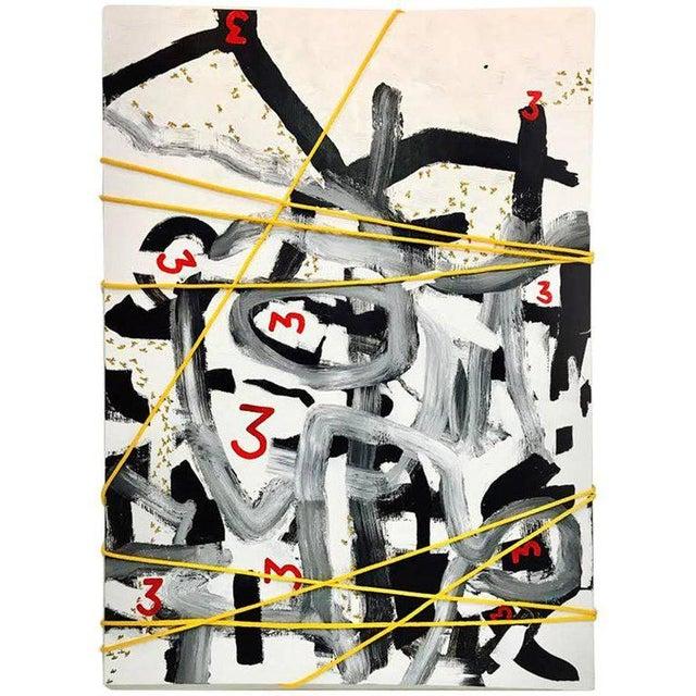"""Communicating A mystery"" - oil and rope on canvas - 84 x 60 inches. BK ADAMS. I AM ART b. 1972, Washington, DC BK Adams..."