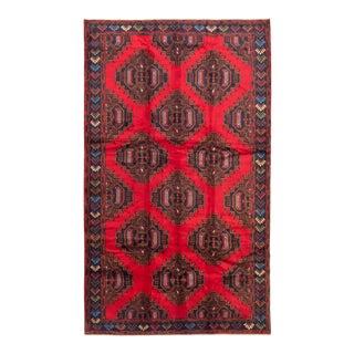 """Tribal Afghan Rug, 6'7"""" X 11'0"""" For Sale"""
