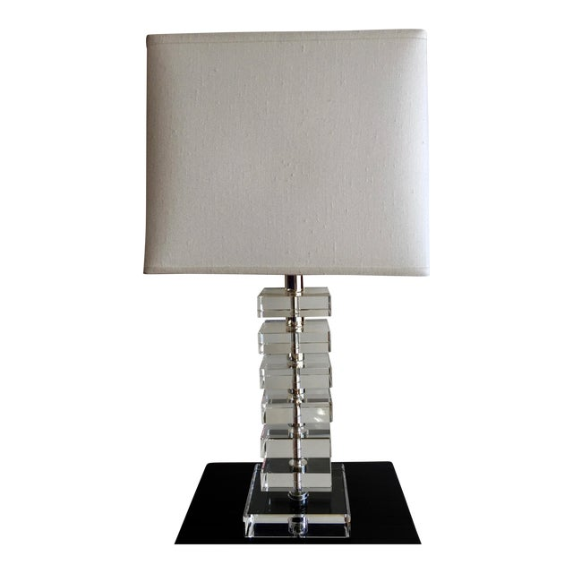 Robert abbey vintage stacked crystal table lamp chairish robert abbey vintage stacked crystal table lamp aloadofball Images