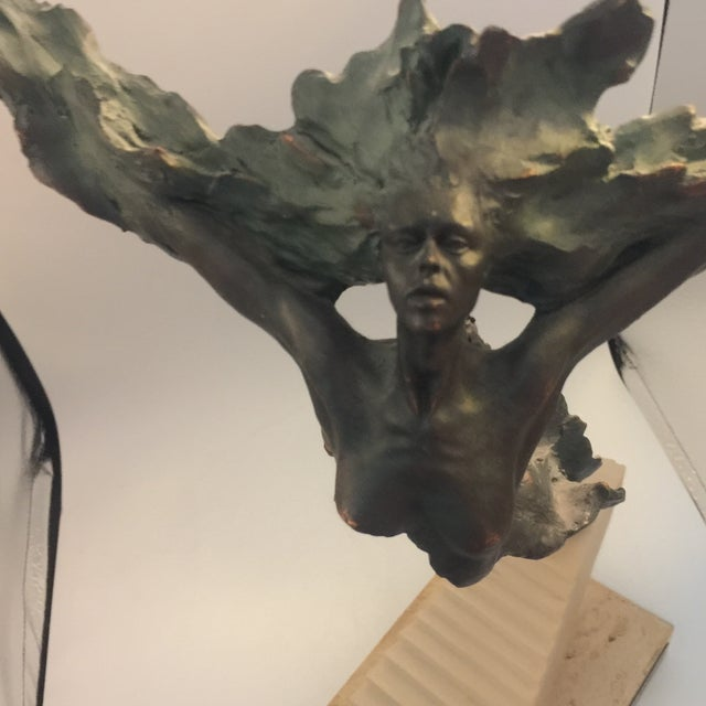 Gold Josep Bohill Freedom Flying Lady Sculpture For Sale - Image 8 of 9
