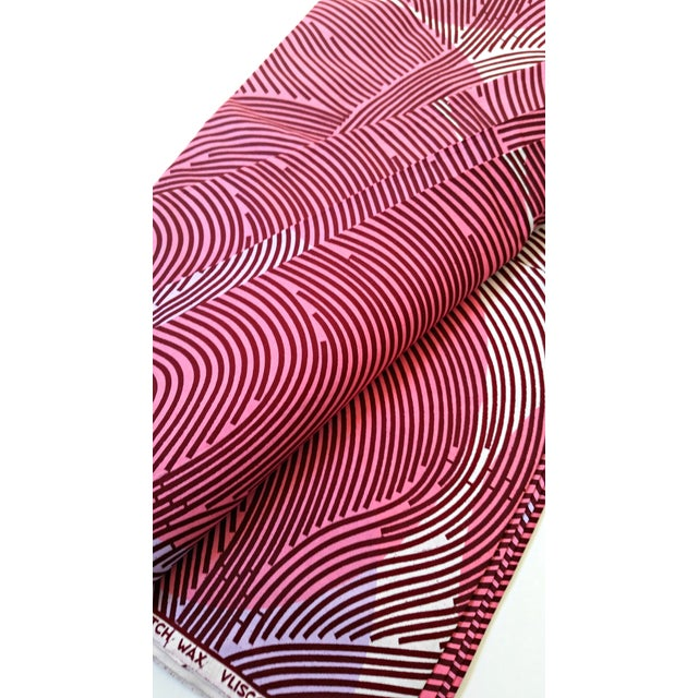 Pink & Purple African Dutch Wax Fabric - 8 Yards - Image 4 of 5