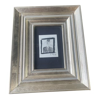 1980s Postmodern Mixed-Media Drawing Jay Steensma, Framed For Sale