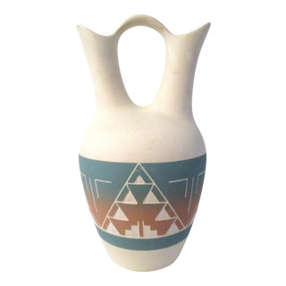Southwestern Pottery Wedding Vase For Sale