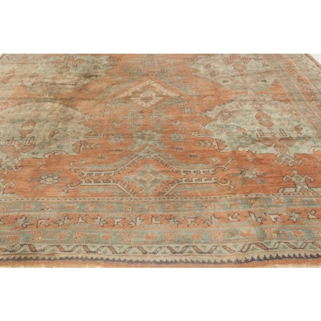 Early 20th Century Antique Turkish Oushak Rug For Sale - Image 5 of 9