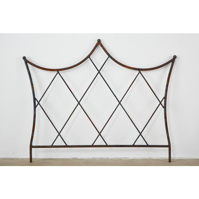 Pair of Regency Style Iron and Bronze Headboards For Sale - Image 4 of 13
