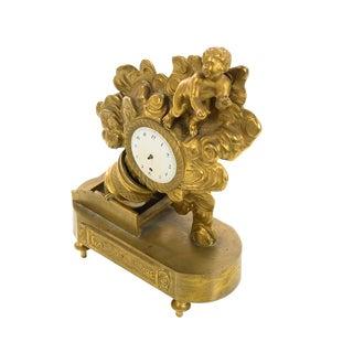 """19th Century French Bronze Dore Figural Clock """"Care La Bombe"""" For Sale"""