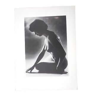 Vintage Ltd. Ed. Black & White Photogravure-Female Nude-1965-Folio Size For Sale