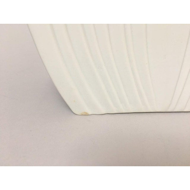 Ceramic White Modernist Bisque Porcelain Naaman Onion Vase For Sale - Image 7 of 11